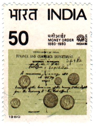 A 100-year commemorative stamp on Money Order was released by India Post in 1980. (Courtesy: India Post)