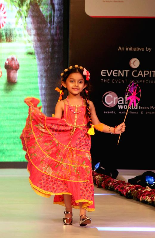 A child model during a kids fashion show in New Delhi, on Feb 28, 2015.