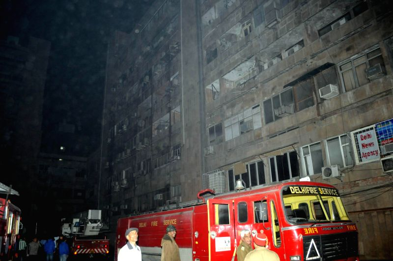 A fire broke out at the Ansal Plaza shopping mall in south Delhi on Feb,  17, 2015.  ( Photo : IANS )
