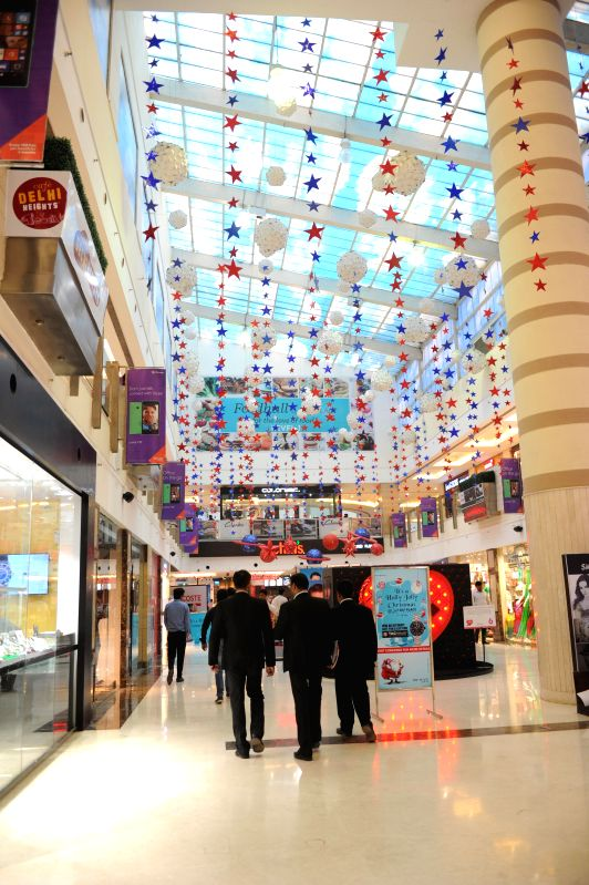 A mall decked up ahead of Christmas in New Delhi, on Dec 5, 2014.