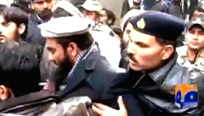 A picture of Zakiur Rehman Lakhvi - alleged mastermind of the 2008 Mumbai terror attacks, captured from the You tube channel of GEO News.