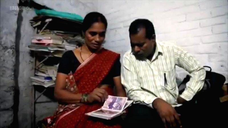 "A scene from ""India's Daughter"" - the BBC documentary on the December 16, 2012 gang rape, showing the parents of the victim. The central government on Thursday served legal ..."