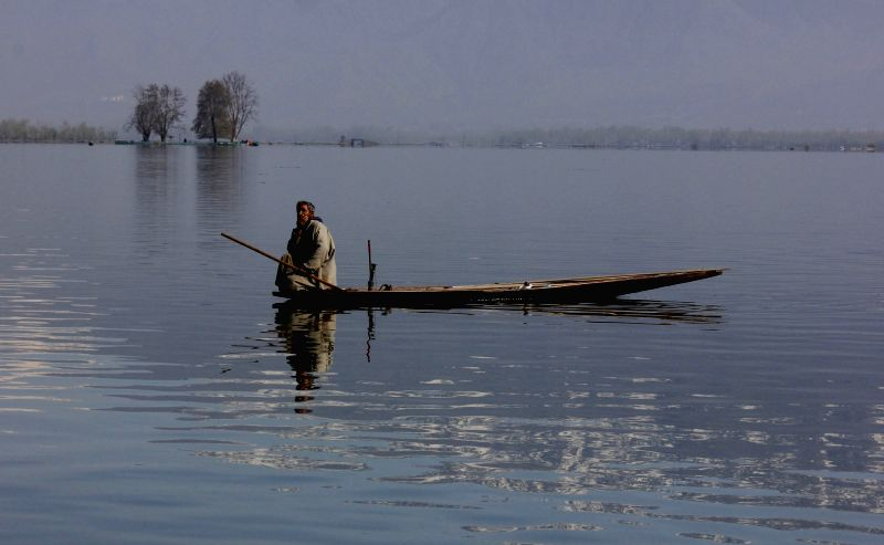 A spectacular view of the Dal Lake in Srinagar.