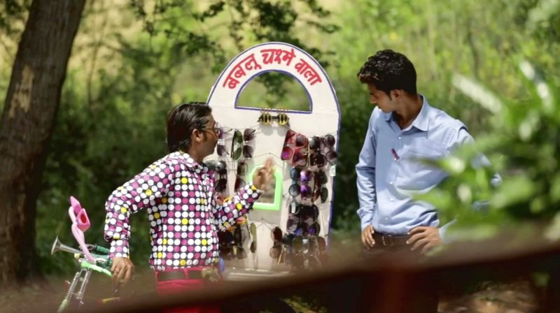 "New Delhi: A still from a hilarious pro-Congress video that sells 'Bhakt ka Chashma,"" which shows development while there is none, covering issues such as unemployment, farmer distress, housing and health. With am aim to strike a chord with young vot"