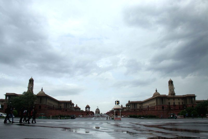 New Delhi: A view of North Block and South Block of the Central Secretariat on a cloudy day, in New Delhi on June 18, 2019. (Photo: Bidesh Manna/IANS)