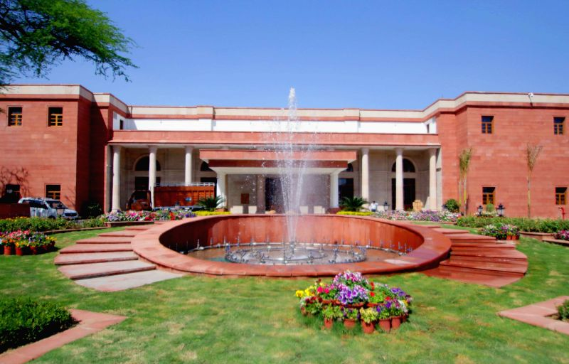 A view of the Rashtrapati Bhavan in New Delhi, on March 9, 2015.