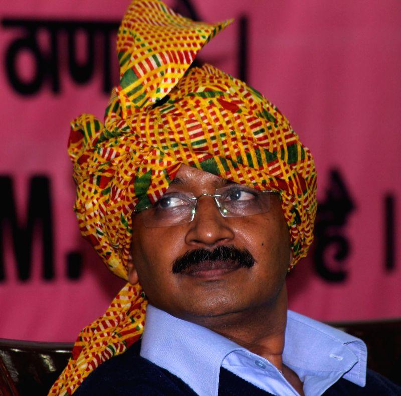 Aam Aadmi Party (AAP) leader Arvind Kejriwal during a seminar on AAP Delhi Gramine Morcaha at Constitution Hall, in New Delhi on Nov 29, 2014. - Arvind Kejriwal