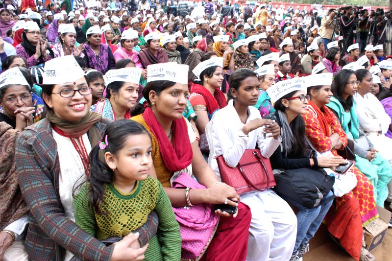 Aam Aadmi Party (AAP) workers during party`s women wing programme in New Delhi on Nov 26, 2014.