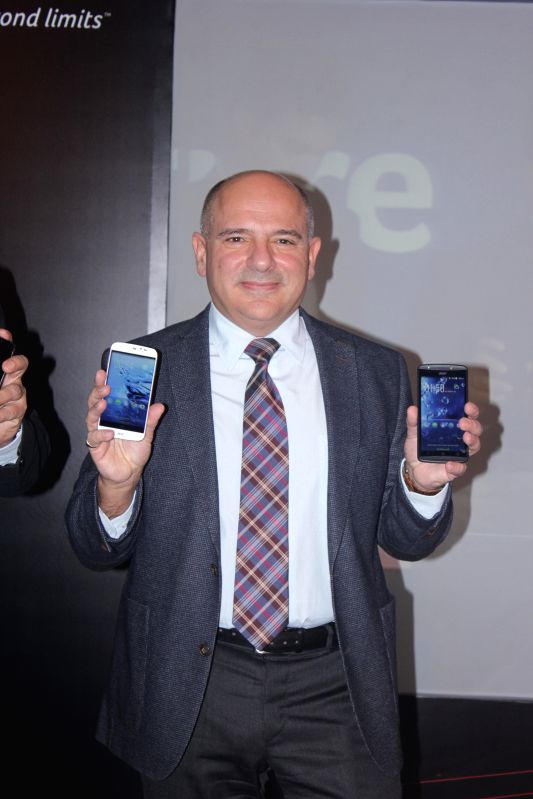 Acer Group's vice president (smartphones) Allen Burnes at the launch of its smartphones in New Delhi, on Dec 8, 2014. Acer has restarted its smartphone business in India in partnership ...
