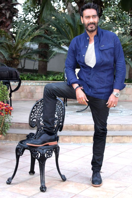 Actor Ajay Devgn during a press conference to promote his upcoming film `Action Jackson` in New Delhi, on Dec 3, 2014.