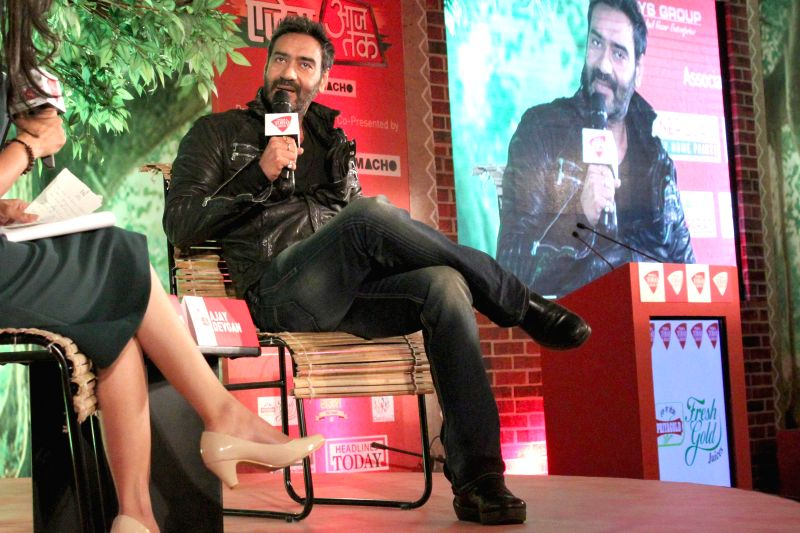 Actor Ajay Devgn during a programme organised by Aaj Tak in New Delhi, on Dec 12, 2014.