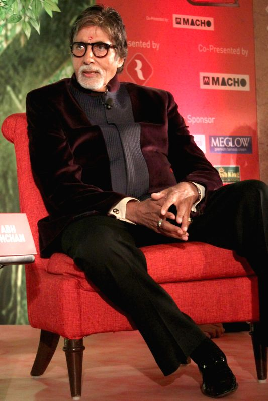 Actor Amitabh Bacchan at the `Agenda Aaj Tak` in New Delhi on Dec.13, 2014.