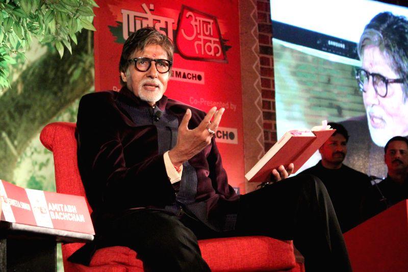 Actor Amitabh Bachchan during a programme organised by Aaj Tak news channel in New Delhi, on Dec 13, 2014. - Amitabh Bachchan