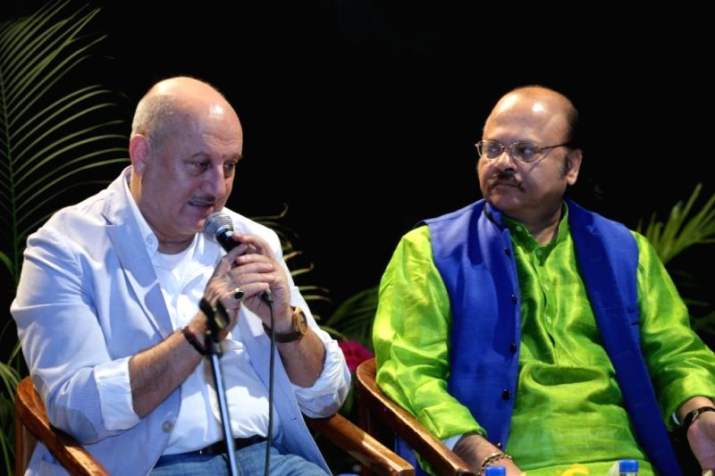 Actor Anupam Kher during National School of Drama's `Living Legend` organised at Bahumukh auditorium in New Delhi, on Feb 9, 2015.