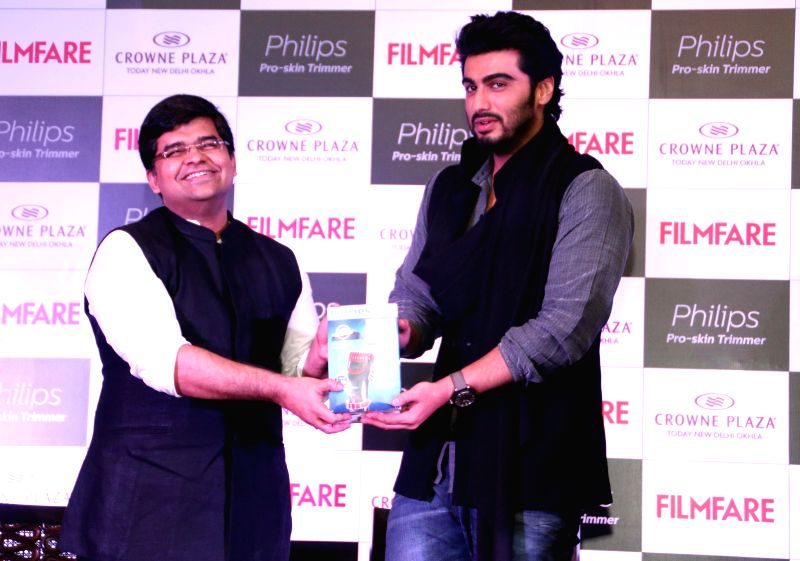 Actor Arjun Kapoor at the cover launch of Filmfare magazine in New Delhi, on Dec 17, 2014.