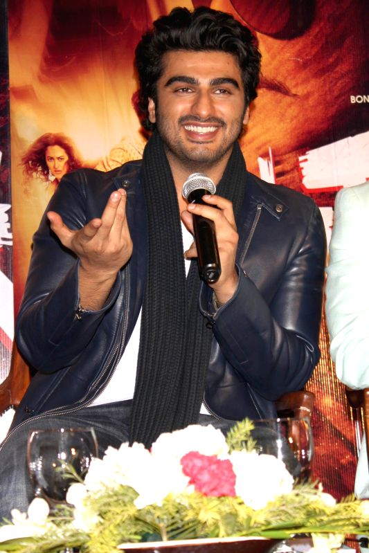 Actor Arjun Kapoor during a press conference to promote their upcoming film `Tevar` in New Delhi, on Jan 4, 2015. - Arjun Kapoor