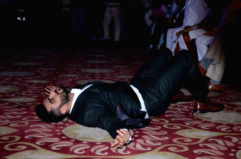 Actor Arjun Kapoor during the `India TV Yuva Awards 2015` in New Delhi, on April 18, 2015. - Arjun Kapoor