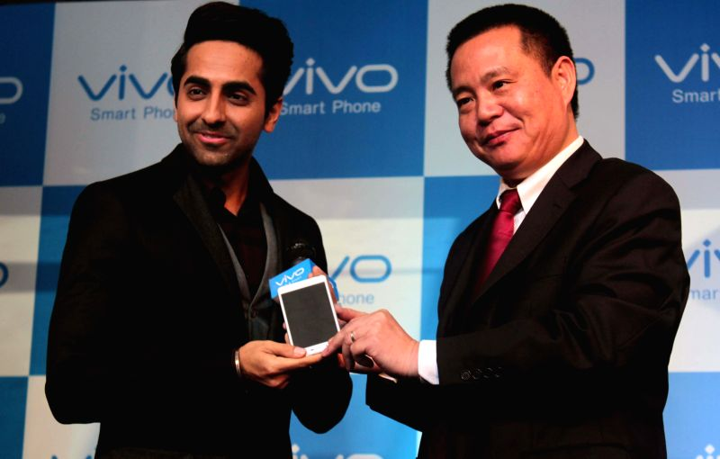 Actor Ayushmann Khurrana at the launch of a vivo mobile in New Delhi, on Dec 15, 2014. - Ayushmann Khurrana