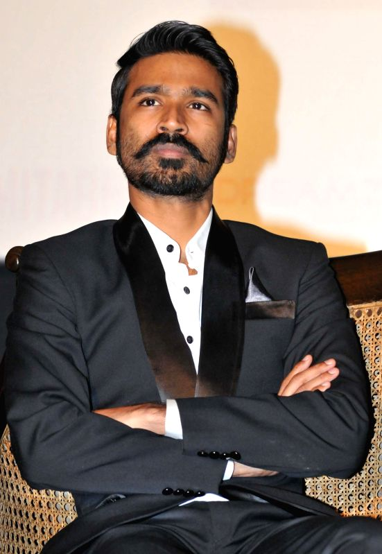 Actor Dhanush during a promotional event of his upcoming film `Shamitabh` in New Delhi on Feb. 2, 2015. - Dhanush