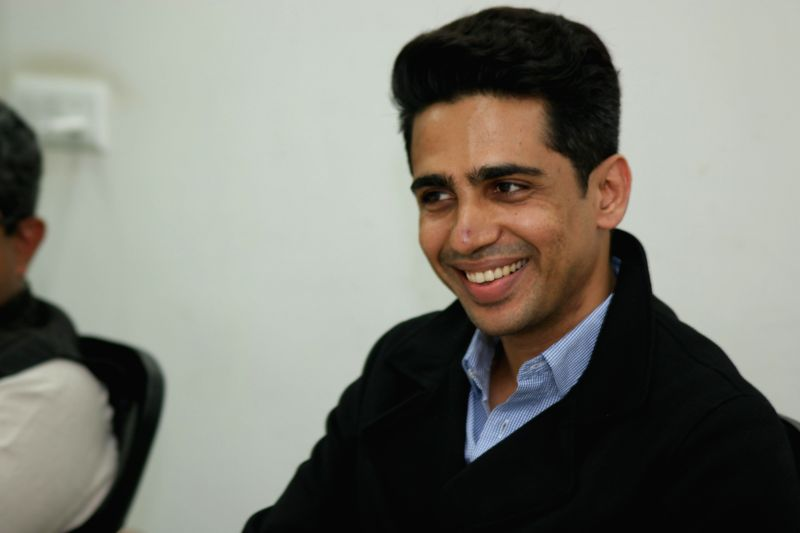 Actor Gulshan Devaiya during an interview at IANS office in New Delhi on March 16, 2015.