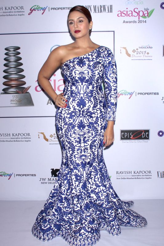 Actor Huma Qureshi during GeoSpa asiaSpa India Awards 2014, in New Delhi on March 30, 2015. - Huma Qureshi