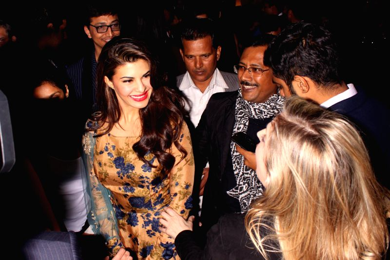"Actor Jacqueline Fernandez during the event ""Experience Le Corbusier's Chandigarh through special  project,"" Chand LC"" curated by Ashiesh Shah"",organized by India Art .. - Jacqueline Fernandez"