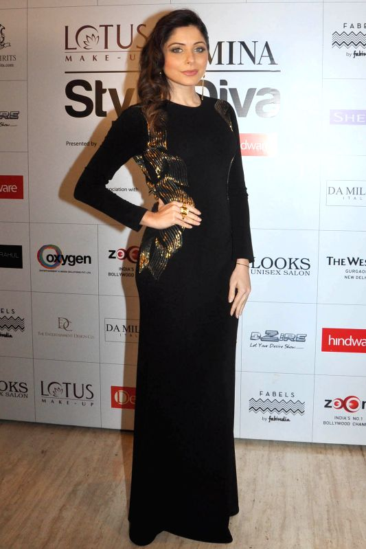 Actor Kanika Kapoor during the red carpet of Grand Finale of Miss India 2015, in Gurgaon on March 30, 2015. - Kanika Kapoor