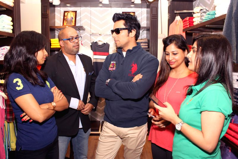 Actor Randeep Hooda unveils jerseys designed for his polo team USPA Royal Roosters in New Delhi, on Feb 28, 2015.