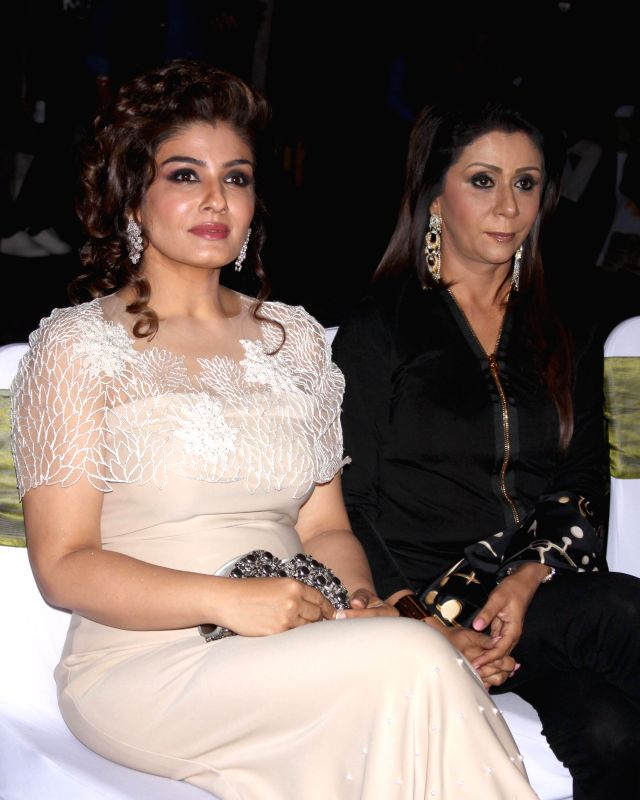 Actor Raveena Tandon during GeoSpa asiaSpa India Awards 2014, in New Delhi on March 30, 2015. - Raveena Tandon