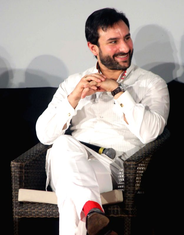 Actor Saif Ali Khan during a programme at the German Embassy in New Delhi on April 24, 2015. - Saif Ali Khan