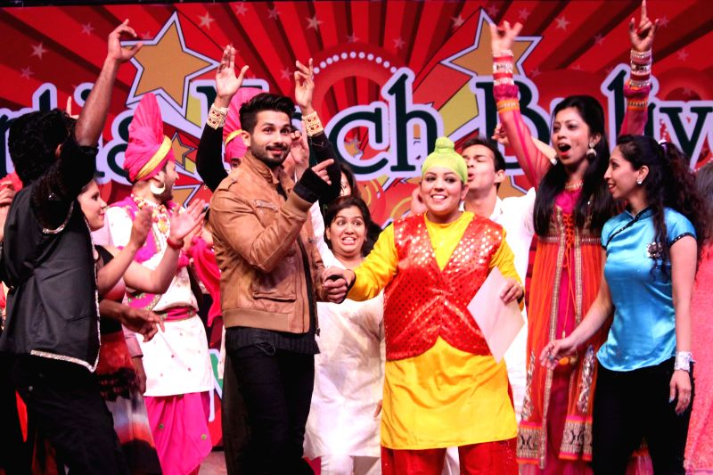 Actor Shahid Kapoor at the Grand Finale of Nach Baliye in New Delhi, on Jan 12, 2015.