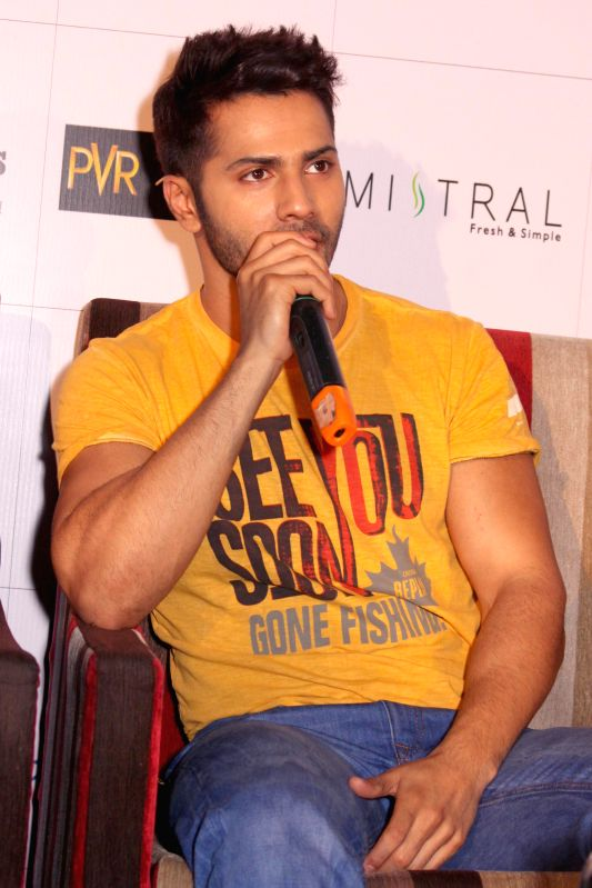 Actor Varun Dhawan during a press conference to promote his upcoming film `Badlapura` in New Delhi on Feb 17,2015. - Varun Dhawan