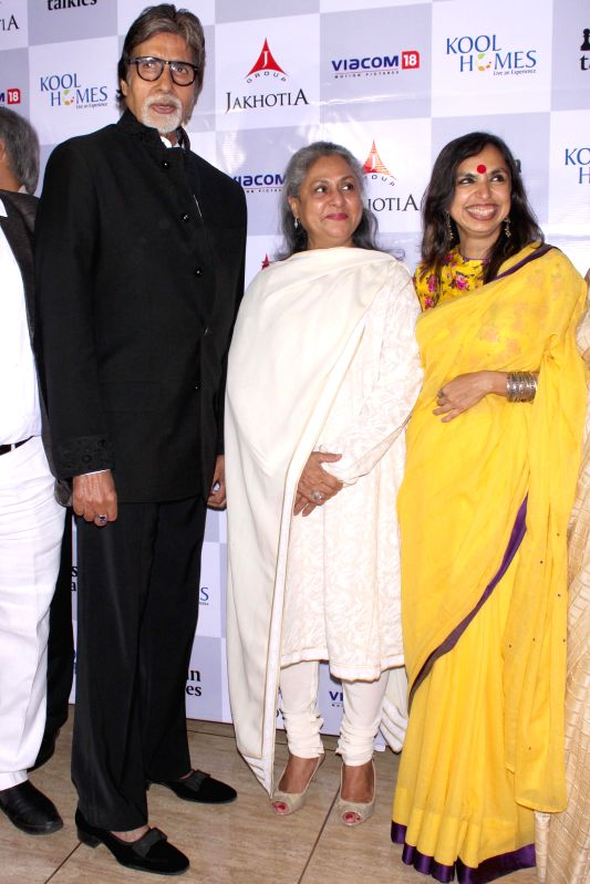 Actors Amitabh Bachchan, Jaya Bachchan, and others at the red carpet of the film  `Margarita With A Straw` in New Delhi, on April 10, 2015. - Amitabh Bachchan and Jaya Bachchan