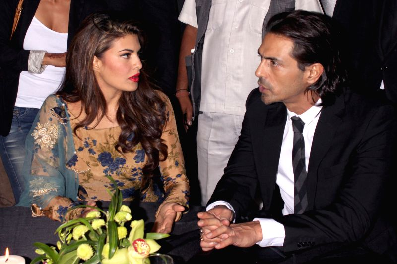 "Actors Jacqueline Fernandez and Arjun Rampal during the event ""Experience Le Corbusier's Chandigarh through special  project,"" Chand LC"" curated by Ashiesh ... - Jacqueline Fernandez and Arjun Rampal"