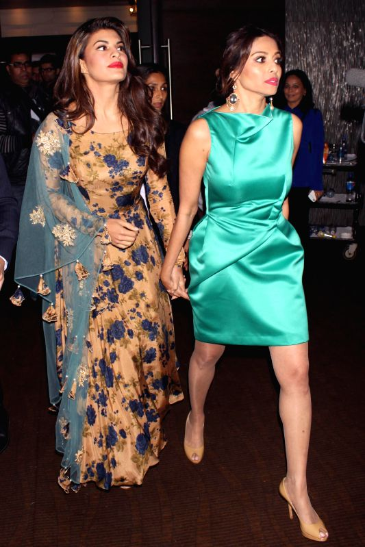 "Actors Jacqueline Fernandez and Kalyani Saha Chawla during the event ""Experience Le Corbusier's Chandigarh through special  project,"" Chand LC"" curated by Ashiesh ... - Jacqueline Fernandez and Kalyani Saha Chawla"