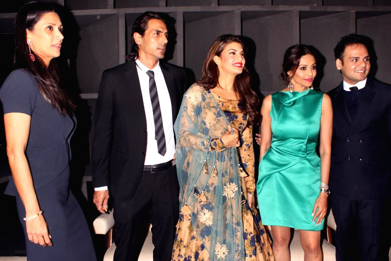 "Actors Jacqueline Fernandez, Arjun Rampal, Mehr Jesia and Kalyani Saha Chawla during the event ""Experience Le Corbusier's Chandigarh through special  project,"" Chand LC"" ... - Jacqueline Fernandez, Arjun Rampal, Mehr Jesia and Kalyani Saha Chawla"