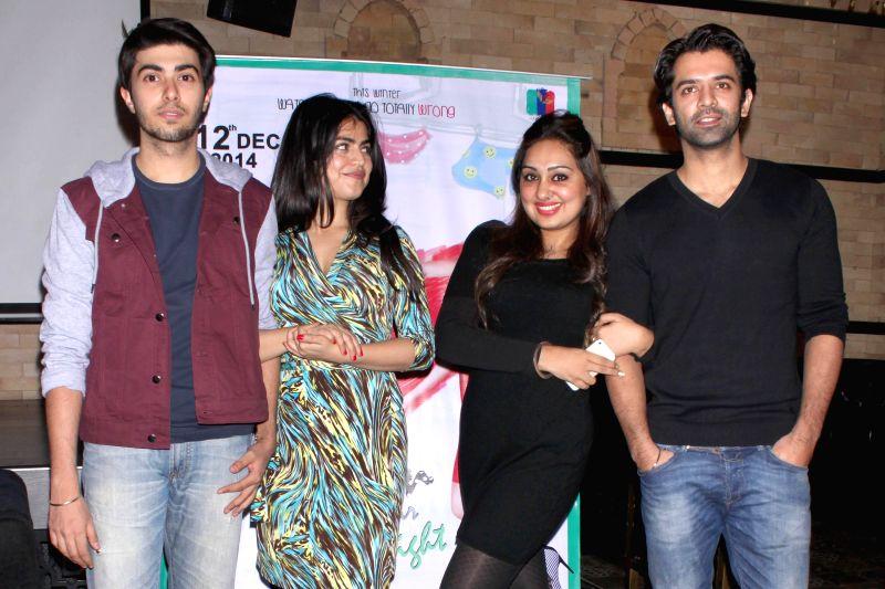 Actors Shenaz Treasurywala, Barun Sobti and filmmakers Pooja Gujral, Adeeb Rais during a press meet in New Delhi, on Dec 4, 2014. - Shenaz Treasurywala and Barun Sobti