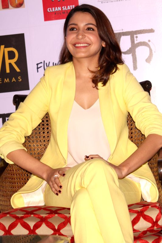 Actress Anushka Sharma during a press conference to promote her upcoming film `NH 10` in New Delhi, on March 9, 2015. - Anushka Sharma