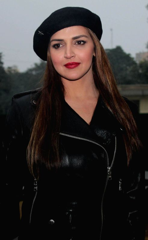 Actress Esha Deol during a press conference regarding MTV Rodies X2 in New Delhi on Dec. 13, 2014.
