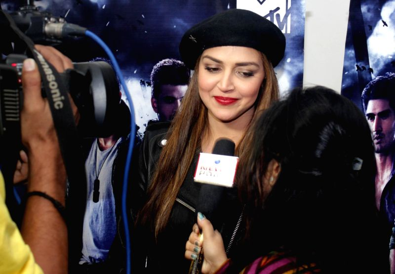 Actress Esha Deol during a press conference regarding MTV Rodies X2 in New Delhi on Dec. 13, 2014.