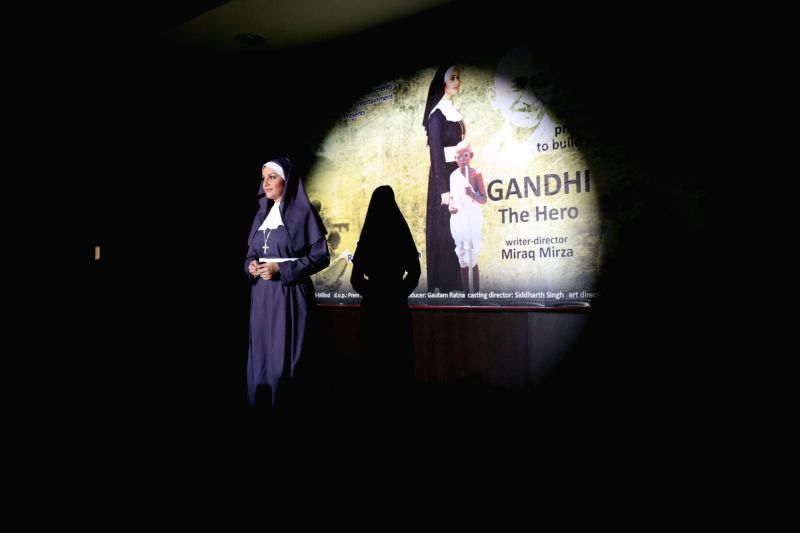 Actress Gracy Singh during the promotions of her upcoming film Gandhi - The Hero in New Delhi, on April 21, 2015. - Gracy Singh