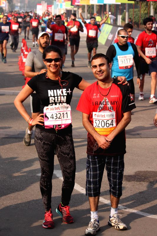 Actress Gul Panag during Airtel Delhi Half Marathon at Jawaharlal Nehru Stadium in New Delhi on Nov 23, 2014. - Gul Panag