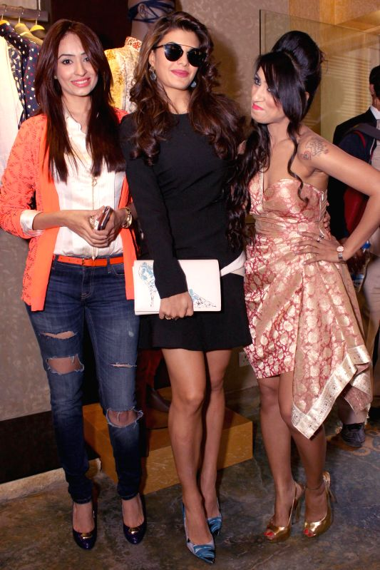 Actress Jacqueline Fernandez at the launch of designer Parul J Maurya latest collection in New Delhi, on Feb 10, 2015.