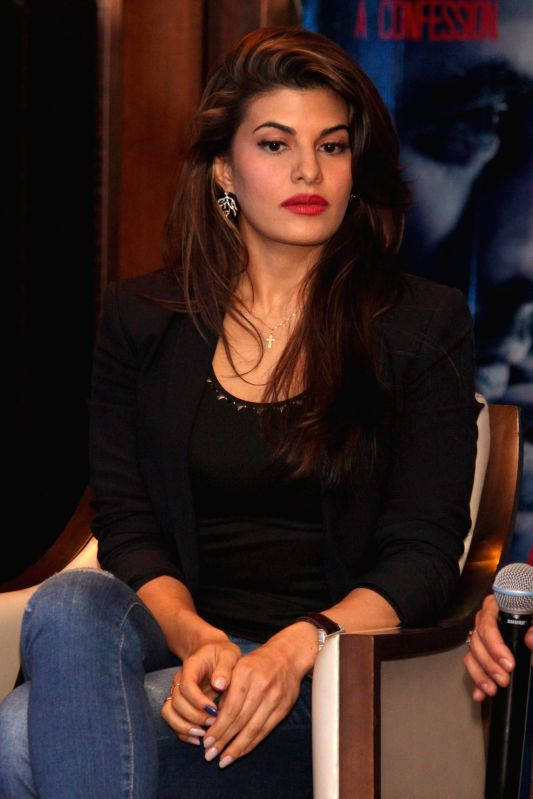 New Delhi:Actress Jacqueline Fernandez  during a press conference to promote his upcoming film `Roy` in New Delhi, on Feb 9, 2015. - Jacqueline Fernandez