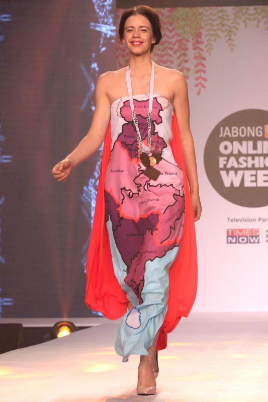 Actress Kalki Koechlin at the JABONG Online Fashion Week Season-2, in New Delhi on Feb 11, 2015. - Kalki Koechlin