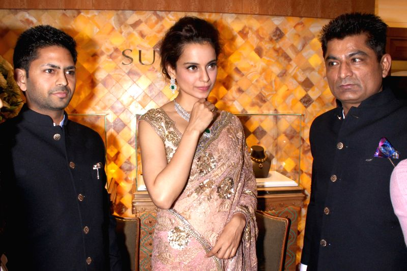 Actress Kangana Ranaut at the launch of a jewellery shop in New Delhi, on April 20, 2015.
