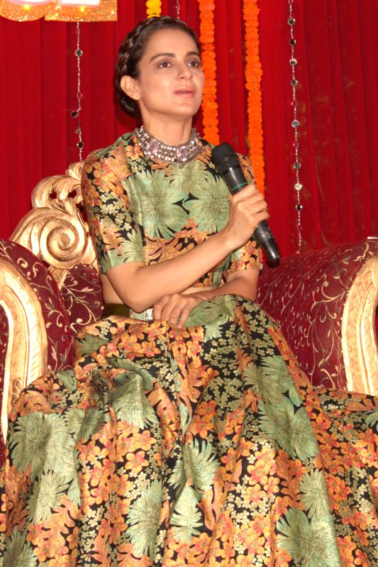 Actress Kangana Ranaut during a programme organised to promote her upcoming film `Tanu Weds Manu Returns` in New Delhi, on March 23, 2015. - Kangana Ranaut