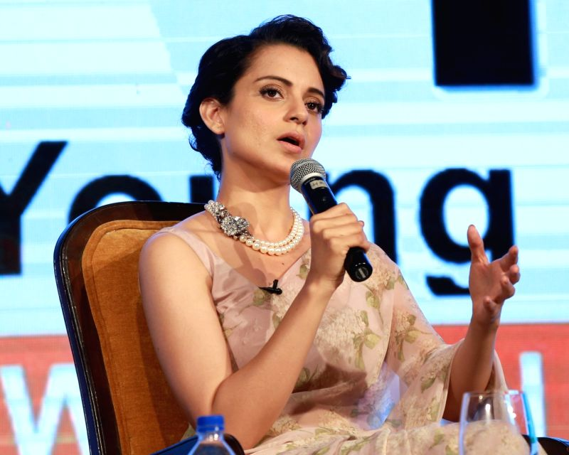 : New Delhi: Actress Kangana Ranaut during the CII young members conference, in New Delhi on March 26, 2016. .