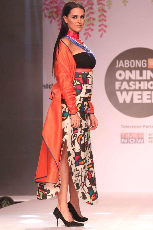 Actress Neha Dhupia at the JABONG Online Fashion Week Season-2, in New Delhi on Feb 11, 2015. - Neha Dhupia
