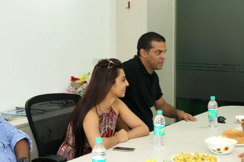 Actress Radhika Apte and filmmaker Vikramaditya Motwane during an interview at IANS office in New Delhi on March 16, 2015.